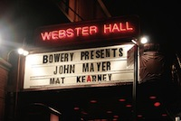 Webster Hall, club a New York