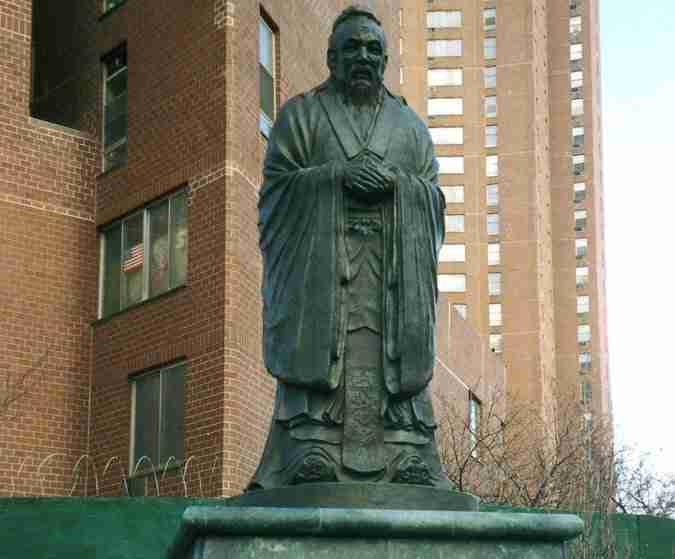 Statua di Cunfucius, Chinatown