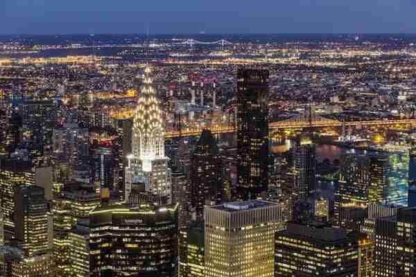 Il Chrysler Building visto dall\'Empire State Building