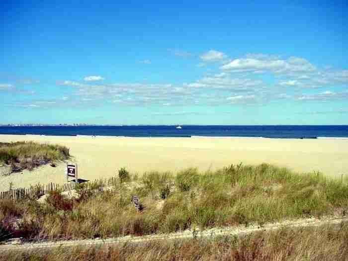 La spiaggia di Sandy Hook nel New Jersey