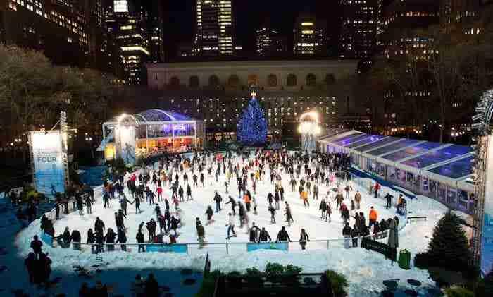 Mercatino di Natale a Bryant Park, New York