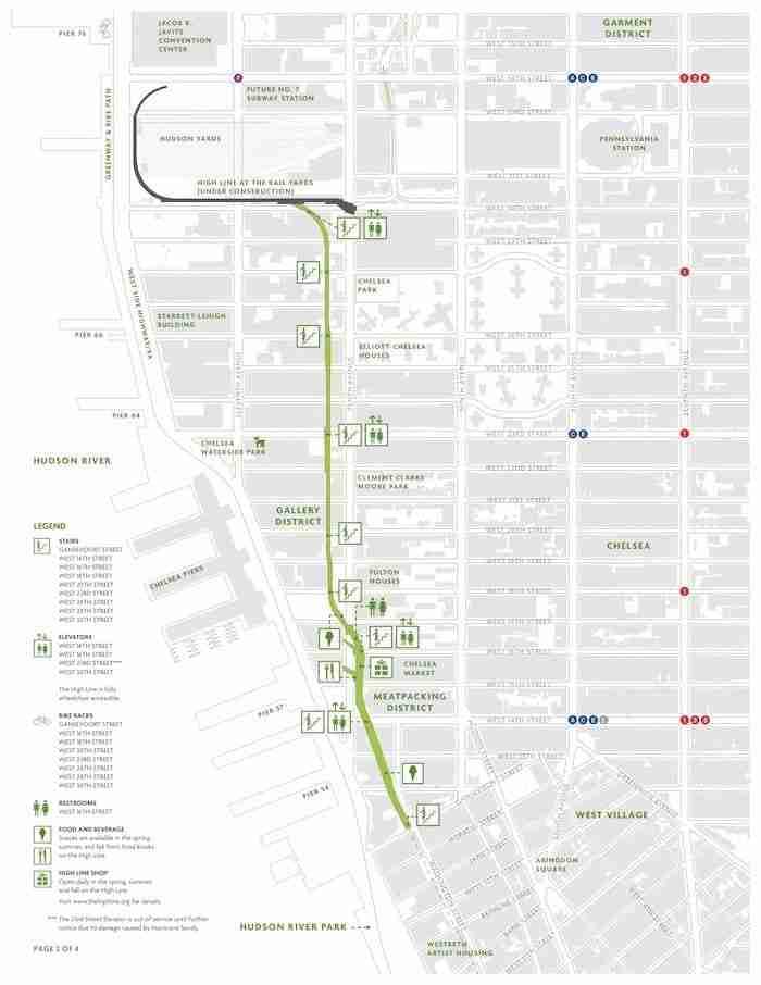 Mappa della High Line