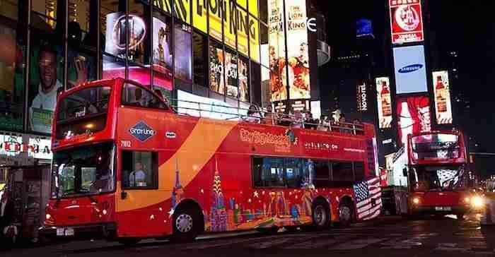 Tour notturno di New York in autobus