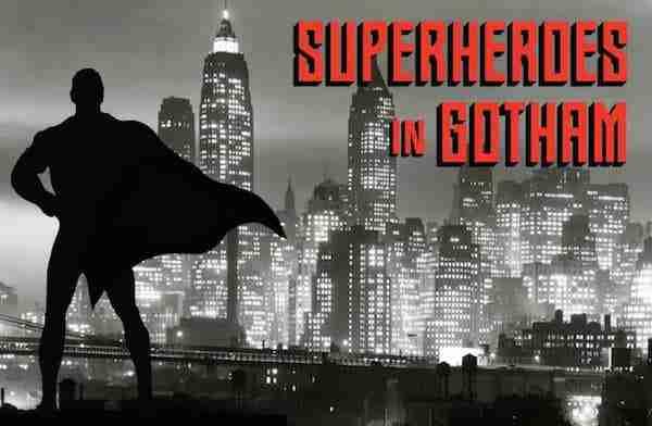 Esibizione superheroes in Gotham, New York