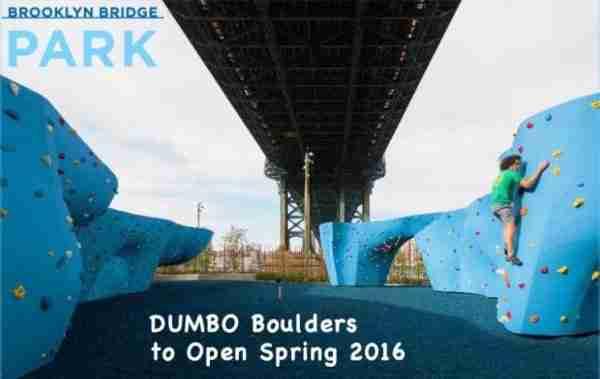 Parete d'arrampicata a Dumbo