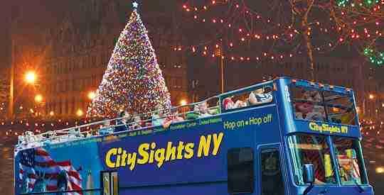 Tour delle luci natalizie di New York