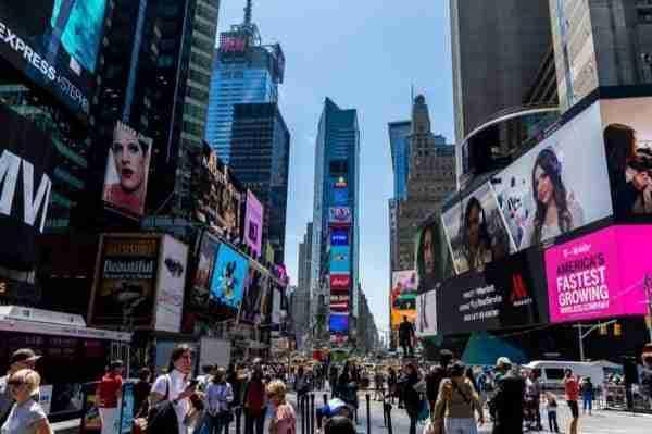 Famosi cartelloni pubblicitari a Times Square