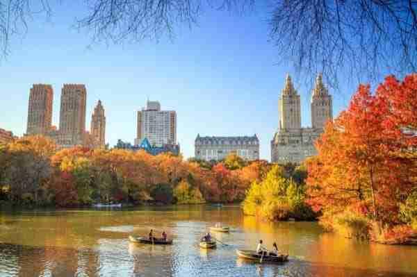 Central Park con i colori dell\'autunno