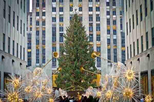 Decorazioni e Albero di Natale al Rockefeller Center