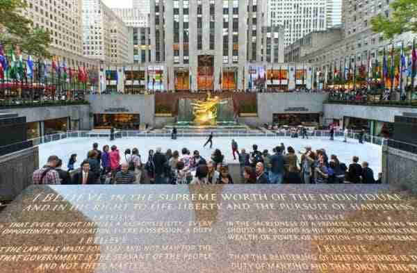 Pista di pattinaggio al Rockefeller Center