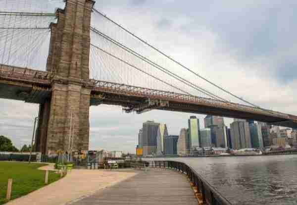 Ponte visto dal Brooklyn Bridge Park