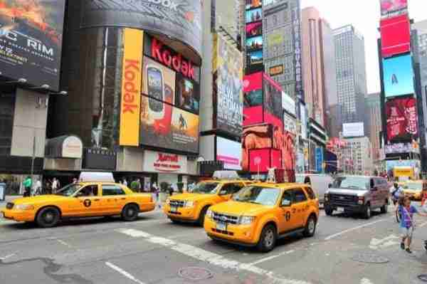 Taxi gialli a Times Square