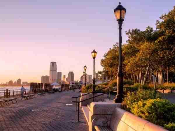 Tramonto a Battery Park