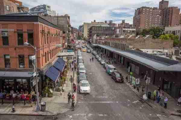 Vista su Gansevoort Street dall\'Highline