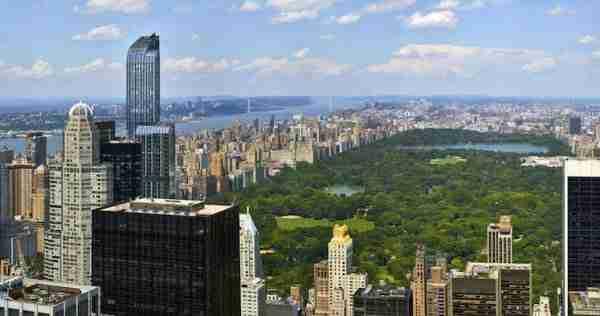 La vista su Central Park dal Top of the Rock