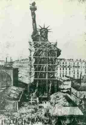 La struttura della Statua della Libertà