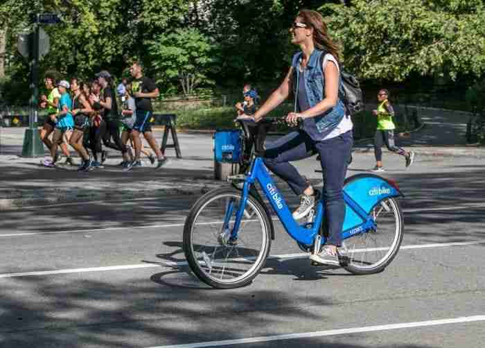 Central Park in bicicletta