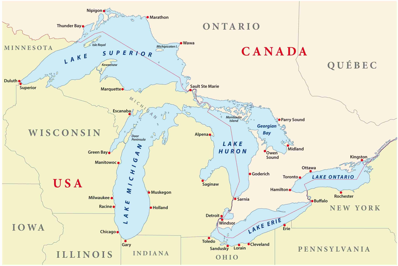 Canada Cartina Fisica.Dove Sono Le Cascate Del Niagara E Come Arrivare