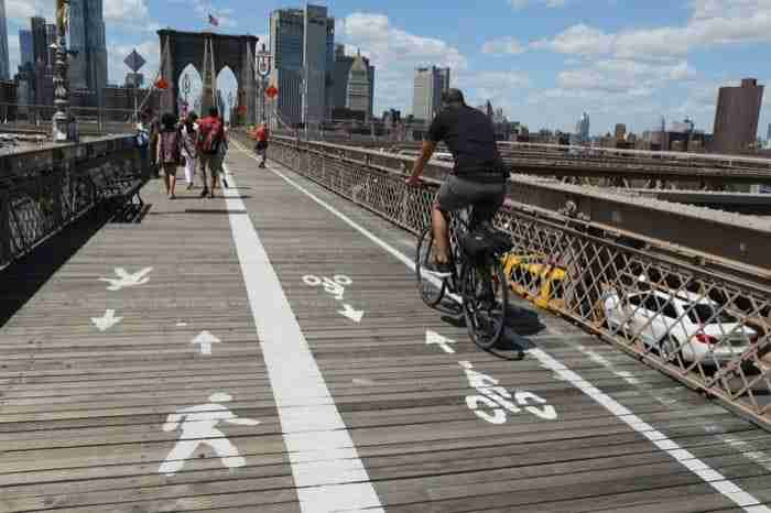 Pista ciclabile sul ponte di Brooklyn