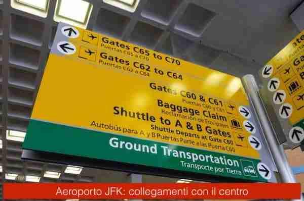 Collegamenti dall'aeroporto JFK a Manhattan