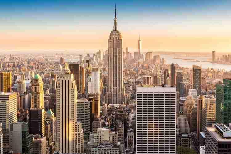 Veduta del distretto di Manhattan