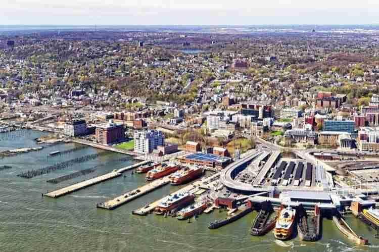 Veduta aerea di Staten Island