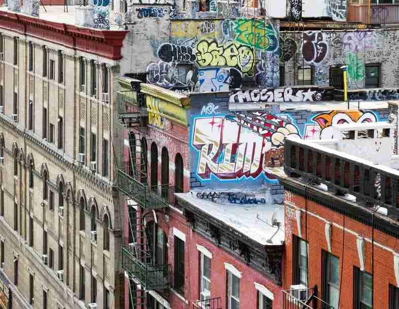 Graffiti nell'East Village