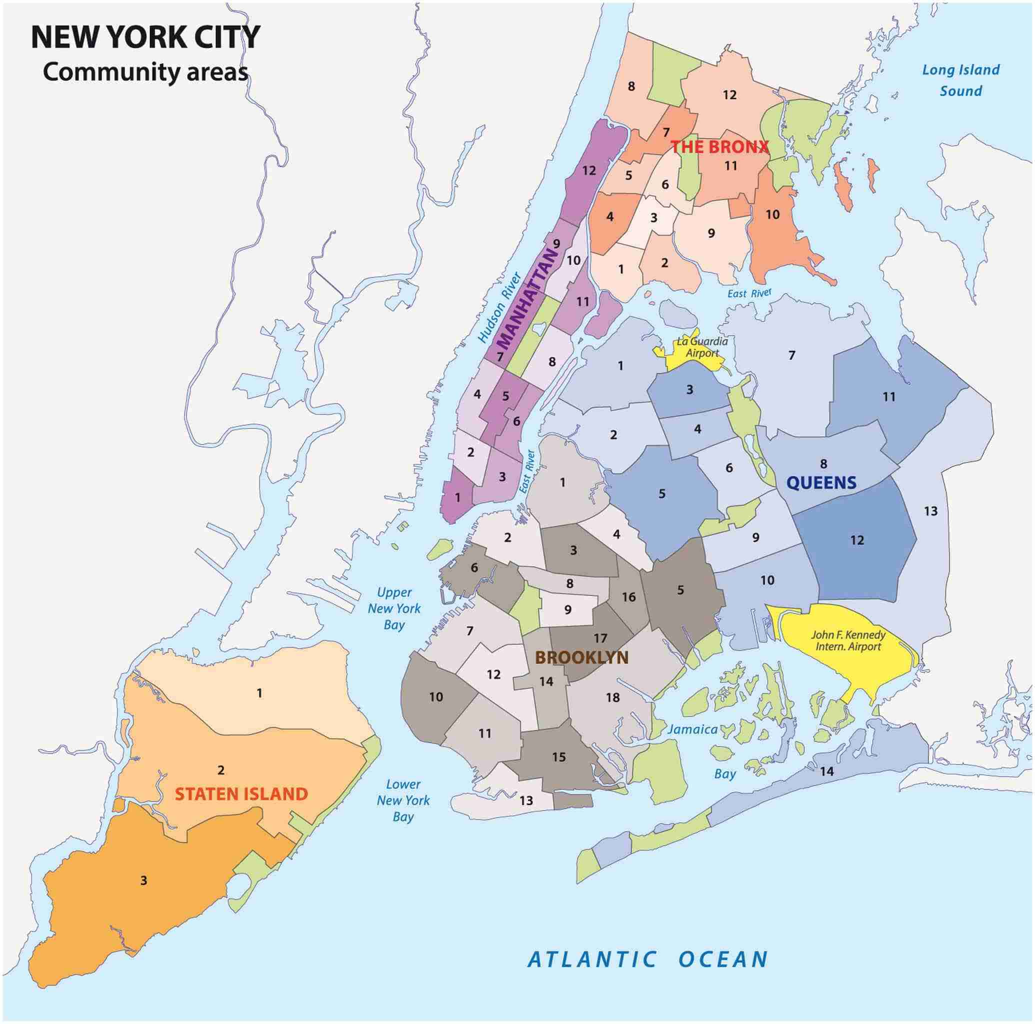Cartina Quartieri New York.I Distretti Quartieri Di New York Quali Vedere E Cosa Visitare
