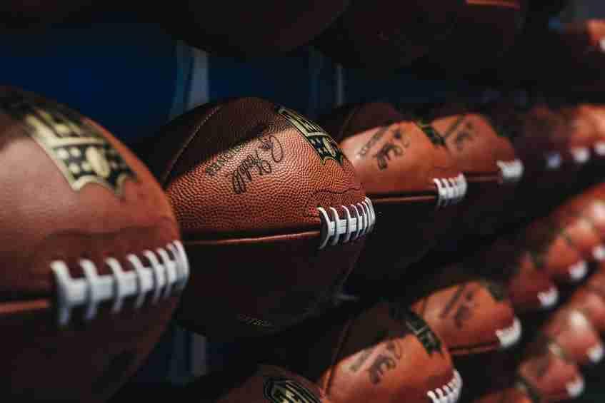 I caratteristici palloni ovali da football
