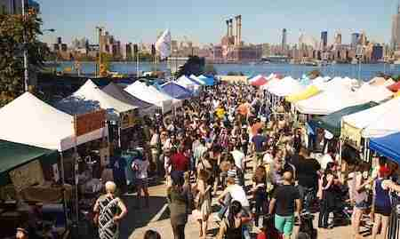 Food market Smorgasburg a Brooklyn