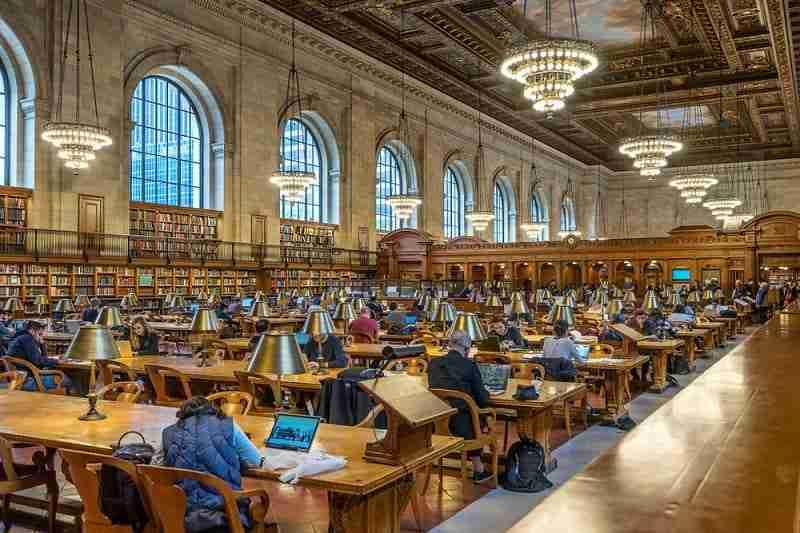 Interno della New York Public Library
