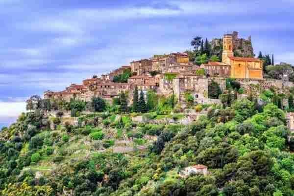 Il Villaggio Eza nella zona di Nizza, Provenza-Costa Azzurra